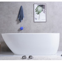 1690x775x585mm Veda Bathtub Freestanding Acrylic MATT White Bath tub Slim Edge Lucite Finishing NO Overflow