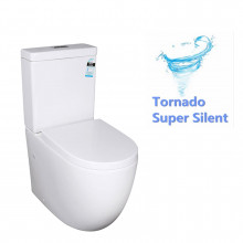 640x380x835mm Veda Tornado Back To Wall Ceramic Toilet Suite S TRAP P TRAP Back/Left and Right Bottom Inlet Cistern