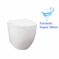 590x360x410mm Veda Wall Faced Toilet Pan with Tornado Silent Flush for bathroom