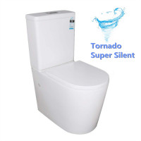 665x390x880mm Vivid Tornado Back To Wall Ceramic Toilet Suite S TRAP P TRAP Back/Left and Right Bottom Inlet
