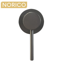 Norico Round Gunmetal Grey Shower/Bath Wall Mixer Solid Brass