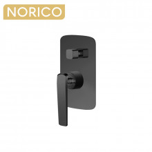 Norico Esperia Gunmetal Grey Solid Brass Wall Mounted Mixer with Diverter for shower and bathtub