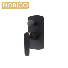 Norico Esperia Matt Black & Rose Gold Solid Brass Wall Mounted Mixer with Diverter for shower and bathtub