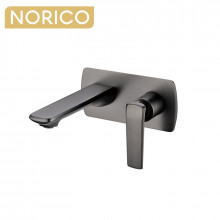 Norico Esperia Gunmetal Grey Solid Brass Wall Mixer with Spout for bathtubs