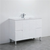 MACHO 1200mm Freestanding PVC Vanity with Gloss White Finish Single Bowl Cabinet ONLY for Bathroom