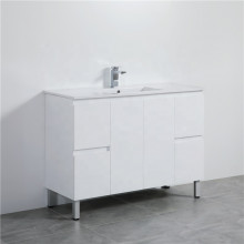 1200mm Freestanding PVC Vanity with Gloss White Finish Single Bowl Cabinet ONLY for Bathroom