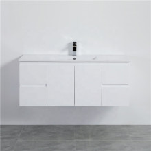 1200mm Wall Hung PVC Vanity with Gloss White Finish Single Bowl Cabinet ONLY for Bathroom