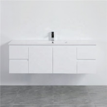 1500mm Wall Hung PVC Vanity with Gloss White Finish Single / Double Bowls Cabinet ONLY for Bathroom