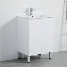 600mm Freestanding PVC Vanity with Gloss White Finish Cabinet ONLY for Bathroom