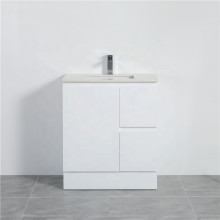MACHO 750mm PVC Vanity with Gloss White Finish Left / Right Drawers Kickboard Freestanding Cabinet ONLY for Bathroom