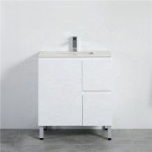 750mm Freestanding PVC Vanity with Gloss White Finish Left / Right Drawers Cabinet ONLY for Bathroom