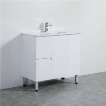 900mm Freestanding PVC Vanity with Gloss White Finish Left / Right Drawers Cabinet ONLY for Bathroom