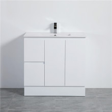 MACHO 900mm PVC Vanity with Gloss White Finish Left / Right Drawers Kickboard Freestanding Cabinet ONLY for Bathroom