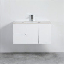 900mm Wall Hung PVC Vanity with Gloss White Finish Left / Right Drawers Cabinet ONLY for Bathroom