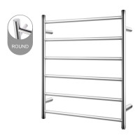 620x600x120mm Round Chrome Electric Heated Towel Rack 6 Bars Stainless Steel