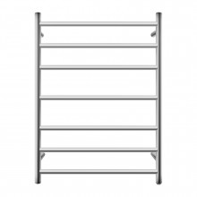 800x600x121.8mm Round Chrome Electric Heated Towel Rack 7 Bars Stainless Steel