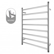 820x600x120mm Round Chrome Electric Heated Towel Rack 8 Bars Stainless Steel