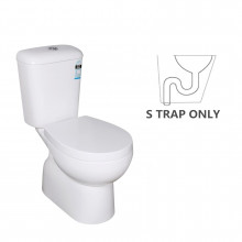 625x345x805mm Zion Toilet Suite with Closed Couple for bathroom S-TRAP ONLY